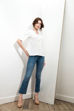 Blouse Aria Blanche Margaux Cooper